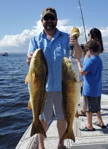 catching big bull redfish